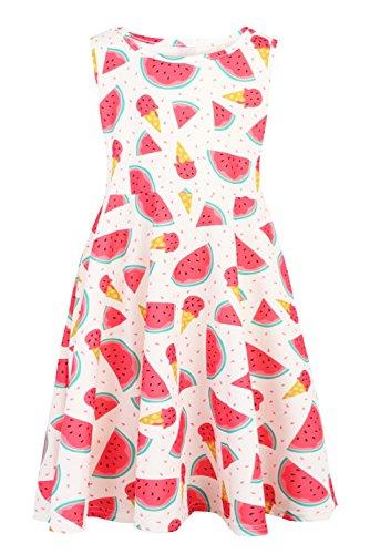 Kleinkind Nette Weiche Ausstattungen Ärmelloses Beiläufige Kostüme Party Kleider (Popcorn-mädchen-kostüm)