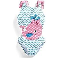 Trajes de baño Lindo Trajes de baño for niñas Imprimir Traje de baño de los niños del bebé Ropa de Playa para Las niñas Niños (Color : Blue, Size : 4T)