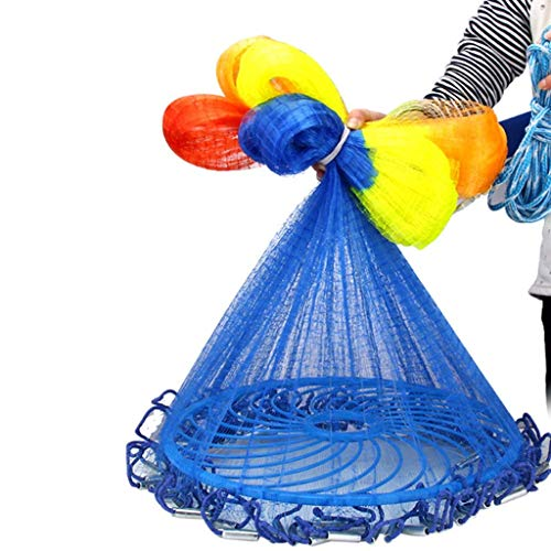 ATR Frisbee Throw Netner Net Fisch Traditionelles Handgussfischen Einfach zum automatischen Werfen King Tool Catch Rod Einfach zu erlernen EIN Mesh-Netzwerk hoch 1,5 Meter Durchmesser beträgt ca (Werfen Net Fische)