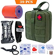 TOUROAM Tactical First Aid Kit-MOLLE Admin Pouch IFAK-EMT Survival Trauma Kit-Camp Travel Car First Aid Emerge
