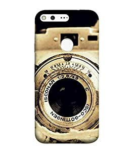 For Google Pixel XL old camera, camera, brown camera, vintage camera Designer Printed High Quality Smooth Matte Protective Mobile Pouch Back Case Cover by BUZZWORLD