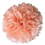 Gespout Festliche Hochzeit Liefert Papier Ball Papier Blumenkugel DIY Blumenball Honeycomb Ball Wabenbälle für Weihnachtsdekoration Hochzeits Deko,15cm(Orange)
