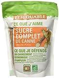 Ethiquable Sachet Sucre Complet de Canne Poudre Pérou Bio et Équitable en 500 g Paysans Producteurs - Lot de 4