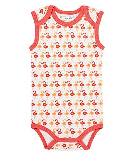 Sense Organics Baby-Mädchen Yaro Retro Doppelpack Body Ärmellos, 2er Pack, Mehrfarbig (Dark Coral Flamingo Aop 187006), 86 (Herstellergröße: 12M)