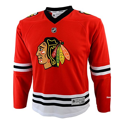 NHL Chicago Blackhawks Jungen Team Replica Player Jersey, Small/Medium, Rot (Jersey Team Replica)