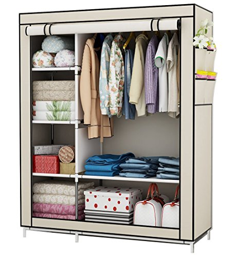 UDEAR Portable Canvas Wardrobes Clothes