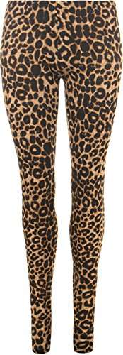 Womens Plus Size Leopard Animal Print Stretchy Leggings. Up to size 30