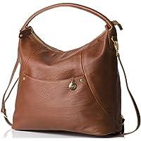 PacaPod Jasper Designer Chestnut Leather Baby Changing Bag - Luxury Tan 3 in 1 Organising System