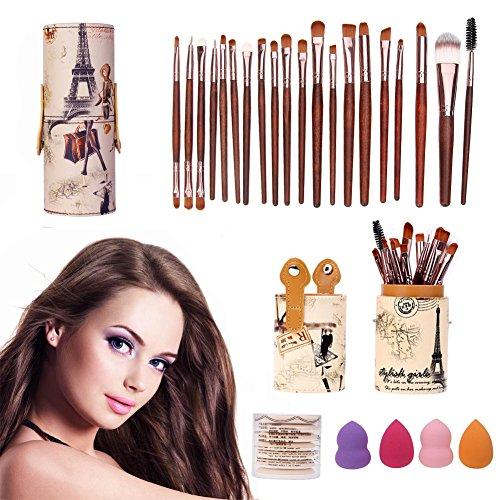 Domybest Brosse Corps + 20 pcs Pinceaux de maquillage + 7 pcs éponge Puff Air Puff + 4 pcs Spong