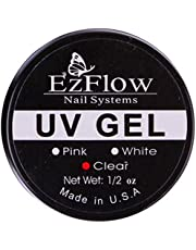 New Ez Flow Nail Builder Gel Nail Art UV Gel Builder Tips Glue, (Clear 15ml)