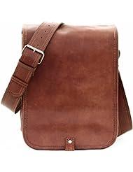 LE MESSAGER (S) bolsa de mensajero, Bolso bandolera de piel, estilo vintage, color marrón PAUL MARIUS Vintage & Retro