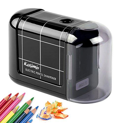 Temperamatite elettrico professionale kasimir temperino automatico batteria operata portatile temperamatite elettrici per matite colorate bambini artista scuola ufficio casa - nero