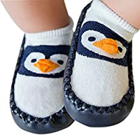 Baywell Baby Infant Boys Girls Toddlers Cute Cotton Slipper Socks Shoes Soft Sole Boot Anti-slip for 0-30Months (S/10-18Months, C)