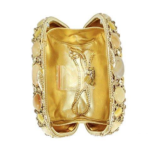 Borsa Di Lusso Di Alta Qualità Del Diamante Del Sacchetto Di Sera Di Lusso Delle Donne OneColor