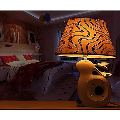 Semplice cinese moderna Bunny tavolo in ceramica lampada creativa mediterranea Soggiorno lampada da tavolo lampada da letto comodino Decoration