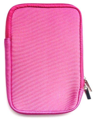 Emartbuy® Hot Rosa Wasserabweisende Weiche Neopren Hülle Schutzhülle Sleeve Case mit Reißverschluss geeignet für Msi Windpad 100W Tablet (10-11 Zoll eReader/Tablet / Netbook)