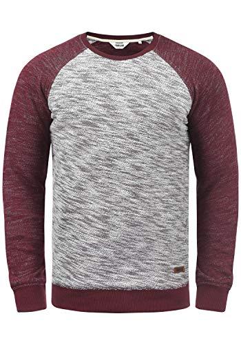 !Solid Flocker Herren Sweatshirt Pullover Flocksweat Pulli Mit Rundhalsausschnitt Aus 100{0e9164b708d862496a02a749dfeb976012caee5901c07f94534731130874f806} Baumwolle, Größe:M, Farbe:Wine Red (0985)