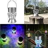 Fatalom LED-Licht, Heimdekoration, wasserdicht, solarbetrieben, drehbar, für den Außenbereich, Garten, Diamantlampe, Camping, Hängelampe