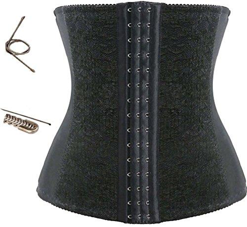 TDOLAH sexy elastisch Cincher Korsett-Sport Latex unterbrust corsage Lace Taillenmieder 9814 schwarz
