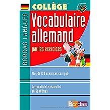 Bordas langues : Vocabulaire allemand par les excercices, collège