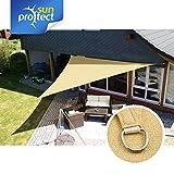 sunprotect 83495 Professional Sonnensegel, 4,5 x 4,5 x 4,5 m, Dreieck, Wind- & wasserdurchlässig, Beige