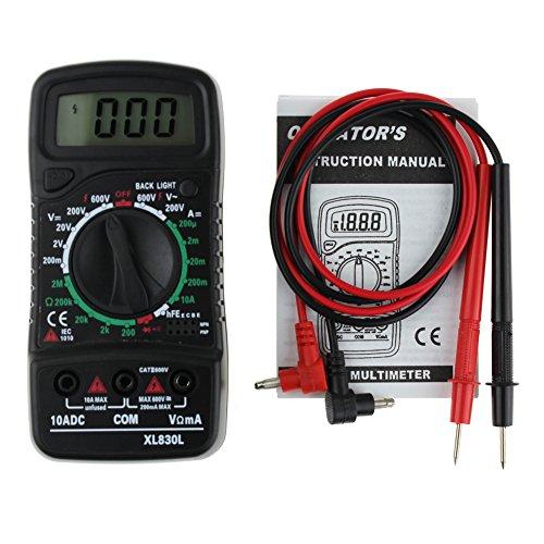 Digital Multimeter mit LED Hintergrundbeleuchtung (Messung von Spannung, Strom, Widerstand, Triode und Diode)