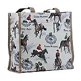 Signare Borsa donna tessuto stile arazzo Shopping alla moda animale (Corsa)