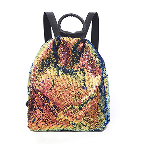 VJGOAL Damen Rucksack, Frauen Mädchen Colorful Sequins Backpack Mode Trend Wild Portable Multipurpose Backpack