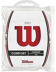 Wilson Pro 12Pk Wh Overgrip Anti Scivolo, Unisex – Adulto, Bianco, Taglia Unica