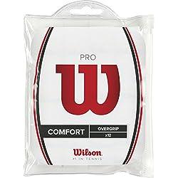 Wilson Pro Overgrip - Overgrips raqueta , color blanco, talla NS
