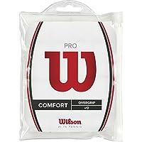 Wilson Pro Overgrip - Overgrips raqueta , color blanco, talla NS, 1 paquete de 12 unidades