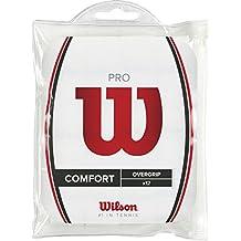 Wilson Pro Overgrip - Overgrips raqueta , color blanco, talla NS, 1 paquete de