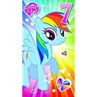 "My Little Pony MP014""Happy 7th Birthday, Have A Magical Day!"" Greeting Card"