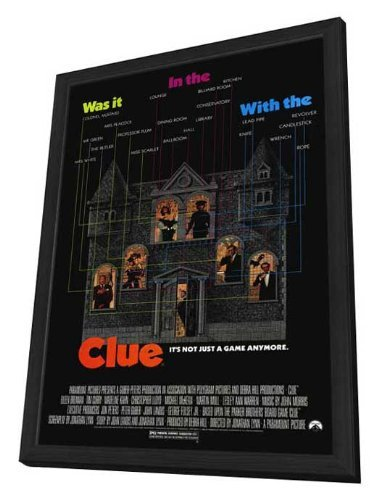 clue-11-x-17-movie-poster-style-a-in-deluxe-wood-frame-by-postersdepeliculas