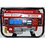 Generatore di corrente Swiss forza SK-8500W - 6500 Watt 6,5 6,56,5 PS/4-TEMPI/12, 220, 380 V