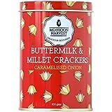 Monsoon Harvest Buttermilk and Millet Crisp Baked Crackers, Caramelised Onion, 100g