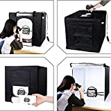 House of Quirk Innovent E-Com LLP Cube Box LED Lighting Table Top Photo Shooting Tent Kit With Portable Bag, AC Adapter (Black)