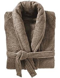 450 GSM Beige 100% Cotton Terry Towelling Bathrobe Bath Robe + Matching Belt - LARGE