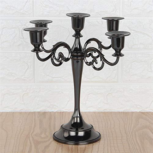 KKRIIS 1 STÜCK Hochzeit Tischdekoration Gold Kerzenständer Schwarz Bronze Kandelaber Mittelstücke Europa Stil Wohnkultur Kerzenhalter, Schwarz Kerzenständer (Schwarz-mittelstücke Und Gold)