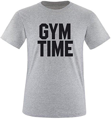 EZYshirt® Gym Time Herren Rundhals T-Shirt Grau/Schwarz