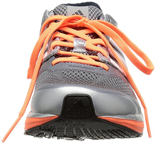 Adidas  Supernova Glide 6, Chaussures de running femme Gris - Grau (Tech Grey F12/Black 1/Glow Orange S14)