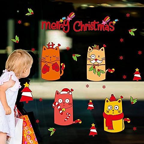 Natale Natale decorazione negozi finestra adesivi stickers decorazioni ornamenti di natale decorare il salotto e creativi adesivi di natale decorazioni di Natale