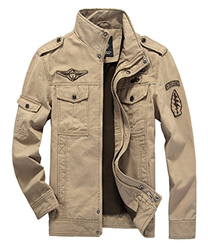 DEMO Herren Jacken Baumwolle Classic Military Jacke Mäntel Männer Armee  Combat Uniform Outdoor Jacke Mantel Parka a27aa3bfb2