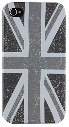 Trendz Hard Shell Schutzhülle Clip-On Case Cover für iPhone 4/4S - London Silhouettes Distressed Union Jack