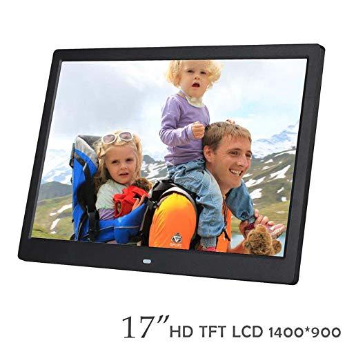 SPFDPF Digitaler Bilderrahmen 17-Zoll-HD-elektronisches Album an der Wand befestigte Werbemaschine HDMI-Eingang