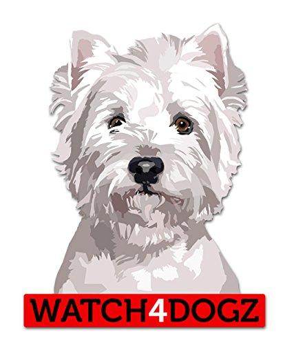 West Highland White Terrier Aufkleber Sticker 2 Stück ca. 10 x 11.5 cm -