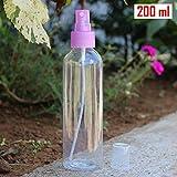 #4: HOKIPO Empty Refillable Fine Mist Perfume Spray Atomizer Bottle for Travel Beauty Makeup, 200 ml Capacity (Random Colors)