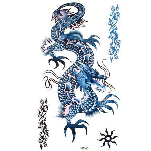 ggsell-tatouages-roi-cheval-blue-dragon-impermeable-a-leau-temporaires-cool-et-fashion