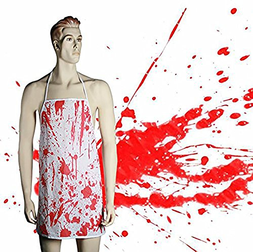 Blood Splattered Bloody Apron Halloween Surgeon Fancy Dress Costume ()