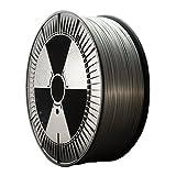 DDDMATERIAL 2kg silbernes PLA Filament - Made in Germany - 1,75 mm (+/- 0,05 mm) Silber Grau metallic 3D Drucker Material 3D Stift …
